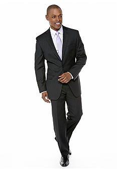 Calvin Klein Slim Fit Black Pinstripe Suit | Calvin klein, Suits ...