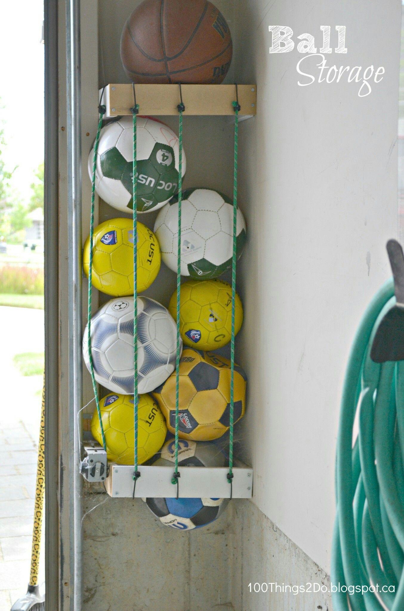 Homemade Garage Ball Rack Diy Garage Storage Home Organization