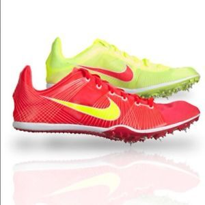NIKE Zoom Victory Track Field Running Spikes Shoes Solar Red White Volt SZ 9