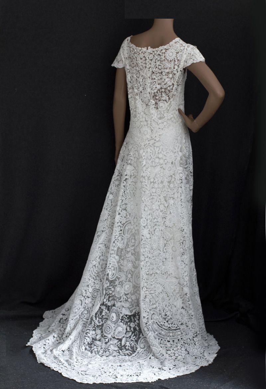 brussels lace wedding dress vintage textiles needful things