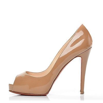 quality design dc789 85178 CHRISTIAN LOUBOUTIN Patent Very Prive 100 Pump 38 Camel ...