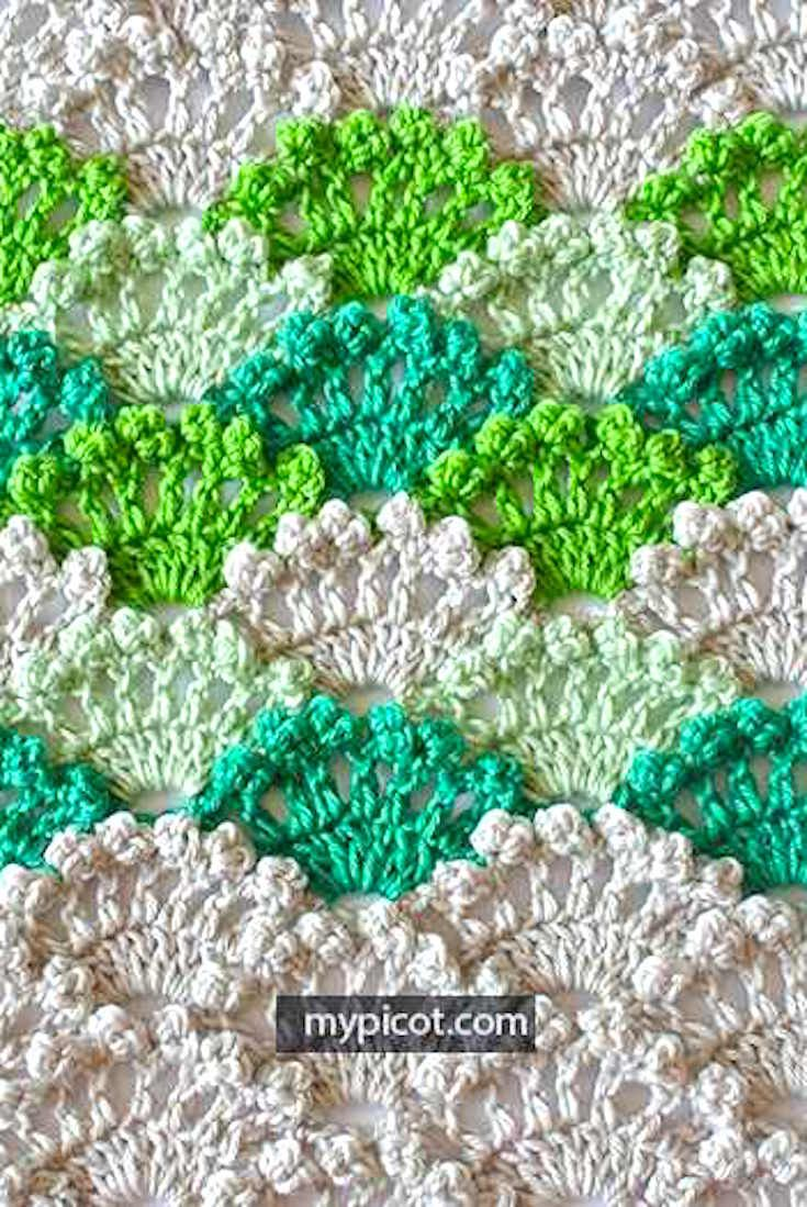 Free Pattern] Learn A New Crochet Stitch: Crochet Shell Stitch ...