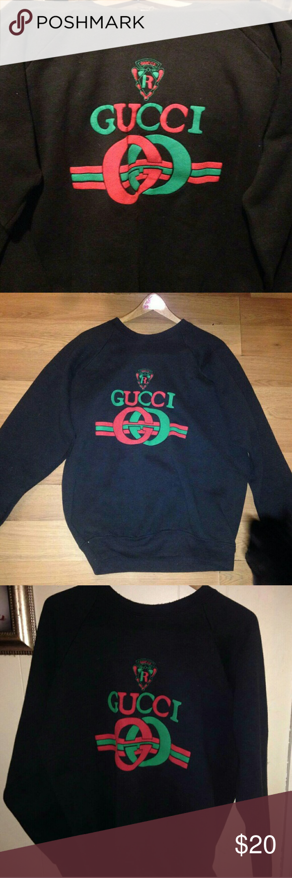 0611eefc6c34 Oversized Gucci Sweatshirt Very comfortable, thick material, easy to layer  with. Great to lounge around in. Never worn. Willing to lower price as well.