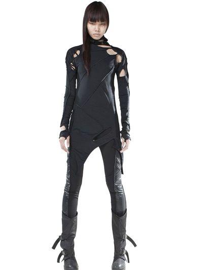 demobaza stretch jersey dress luisaviaroma luxury