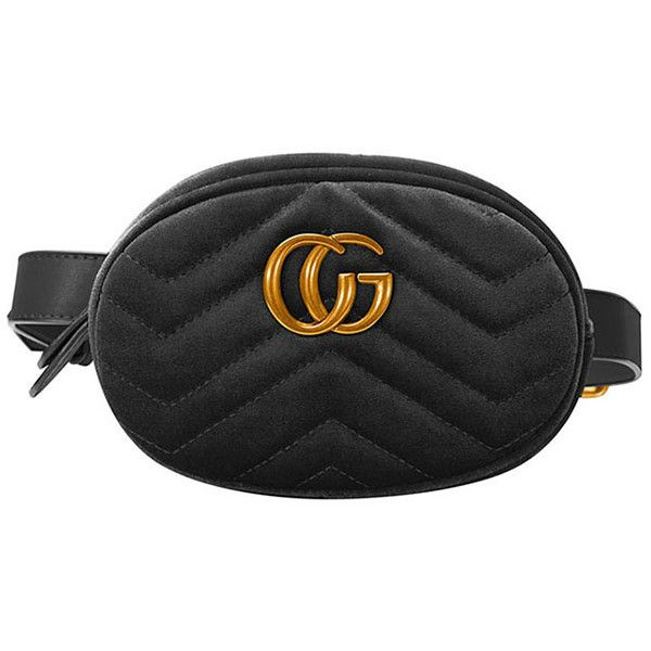 4abf8a96665b RALEI CG Logo Quilted Waist Belt Bag ($79) ❤ liked on Polyvore featuring  bags, quilted bag, zip bag, zipper bag, velvet bags and logo bags
