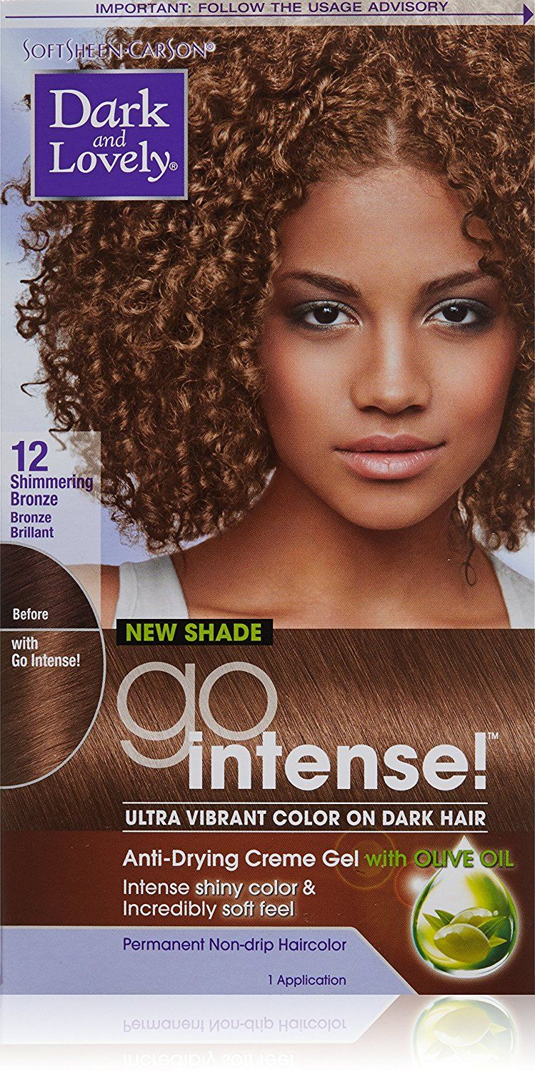 Dark And Lovely Go Intense Hair Color 12 Shimmering Bronze Read More Reviews Of The Product By Visiting The Lin Bronze Hair Color Hair Color Bronze Hair