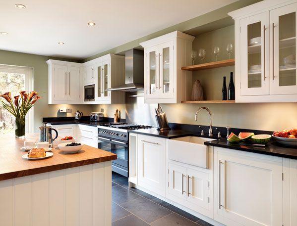 Image Result For Black Worktop Beech Cabinet Kitchen Ideas