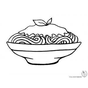 Disegno di Piatto di Spaghetti da colorare   Disegni di ...
