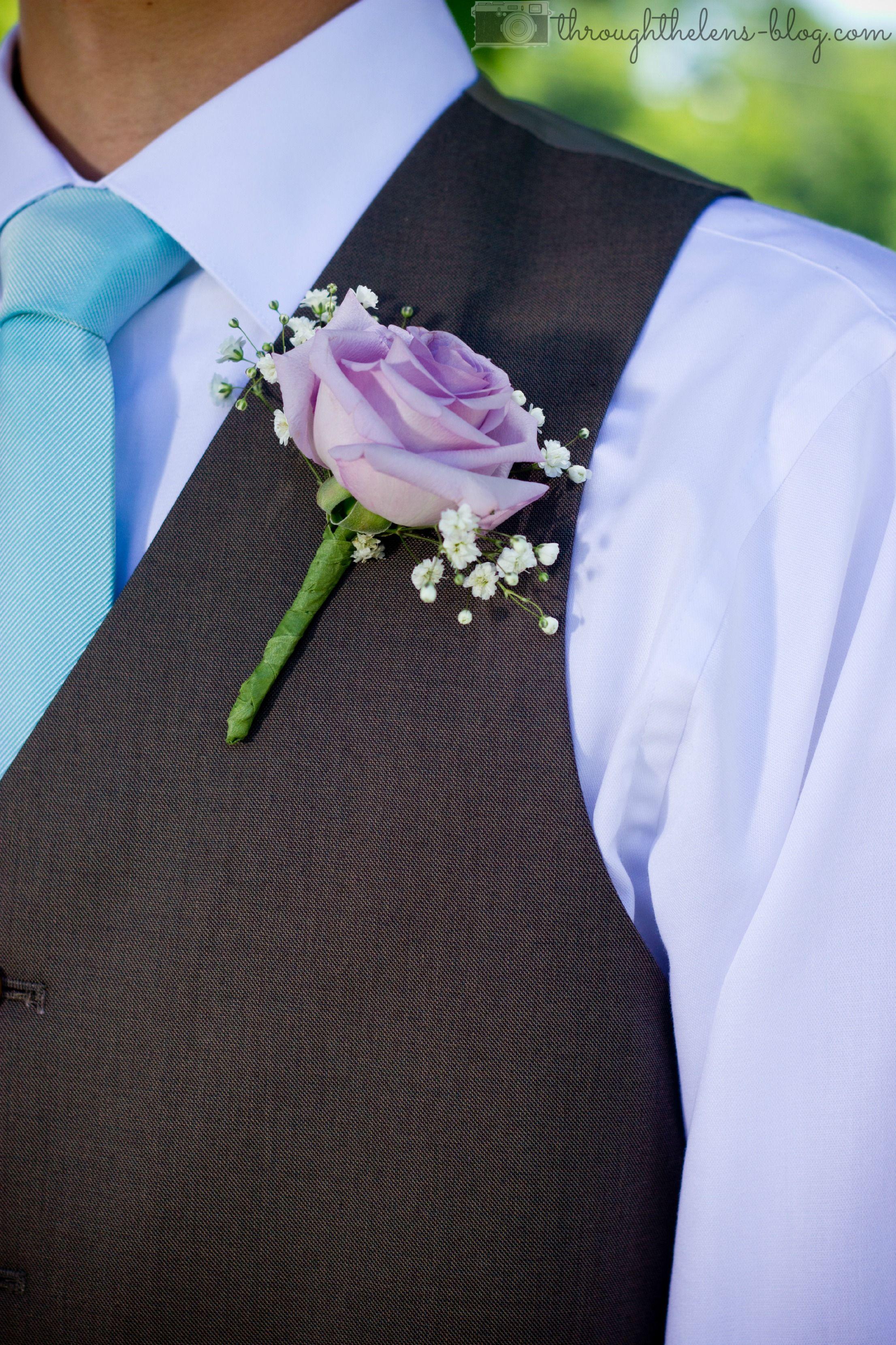 lavender boutonniere-#34