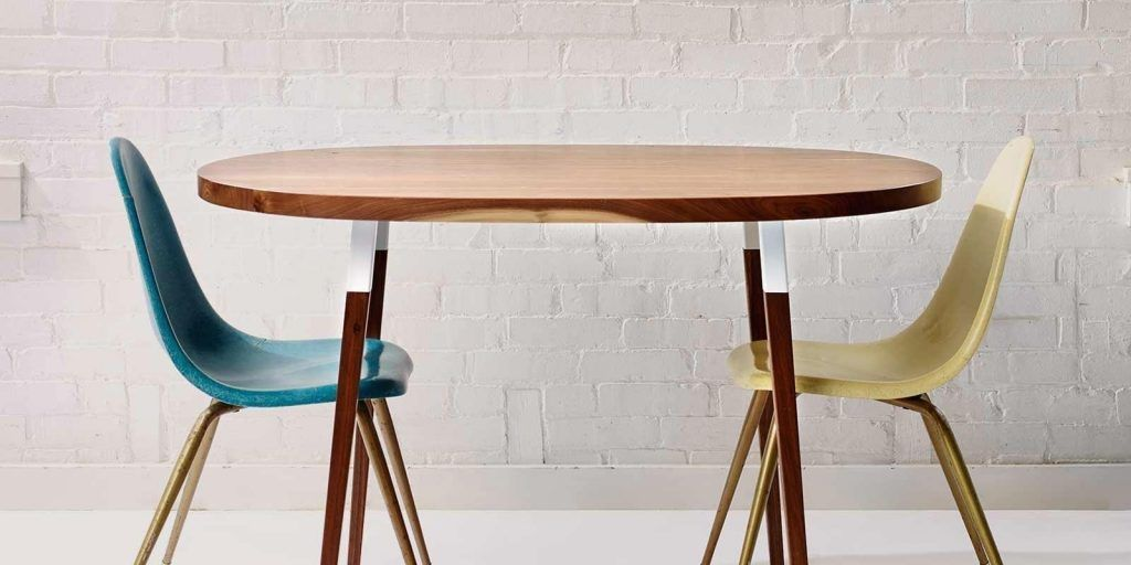 Mid Century Modern Dining Table Oval
