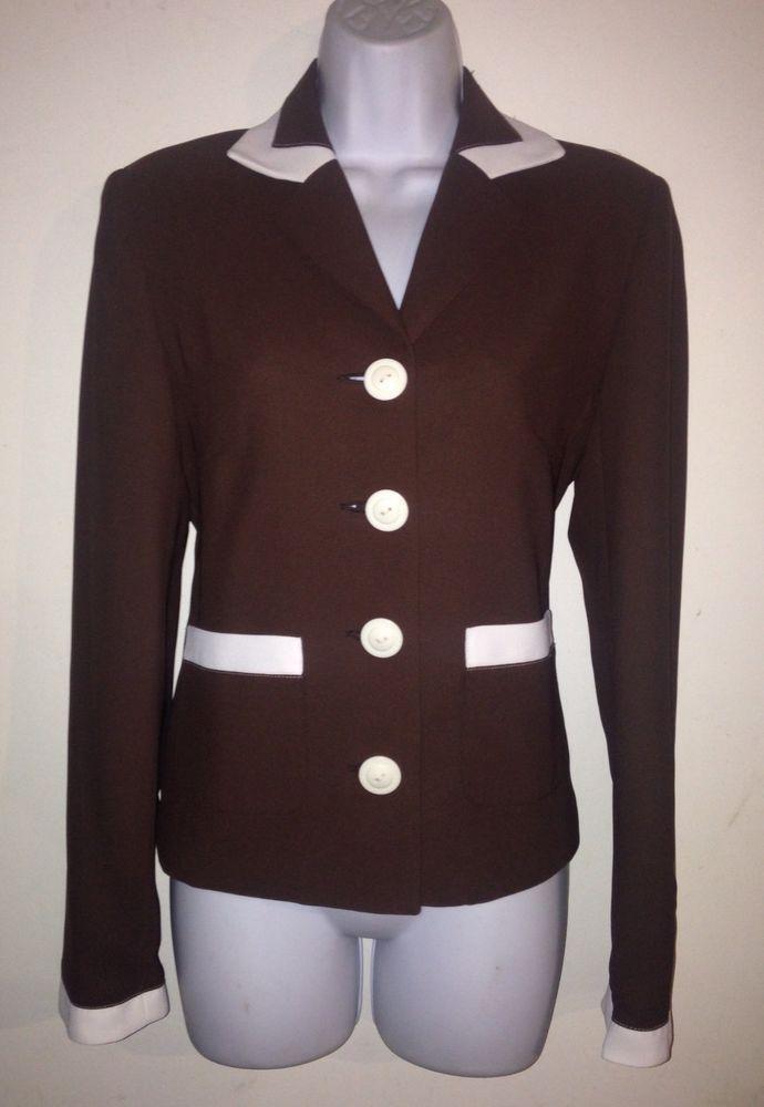 95a004ace1c Chapter One Women s Brown 2 Piece Pants Suit Size 6  ChapterOne  PantSuit