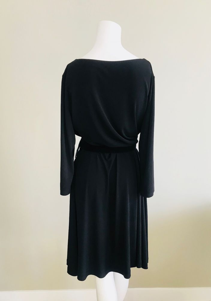 52dc7bee048b Tahari Arthur S Levine Women's Black Long Sleeved Belted All Occasion Dress  14 | Women's Fashion | Pinterest | Shoulder, Black and Fashion