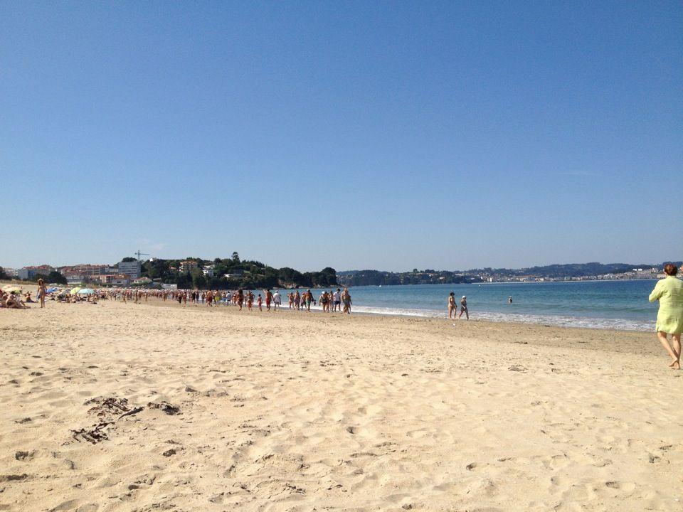 Praia Grande de Miño en Miño, Galicia