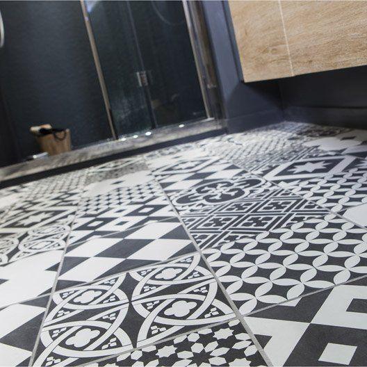 Carrelage interieur gatsby artens en gres noir et blanc for Interieur noir et blanc