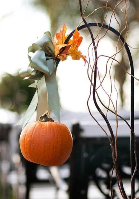 Fall Wedding Aisle Decor