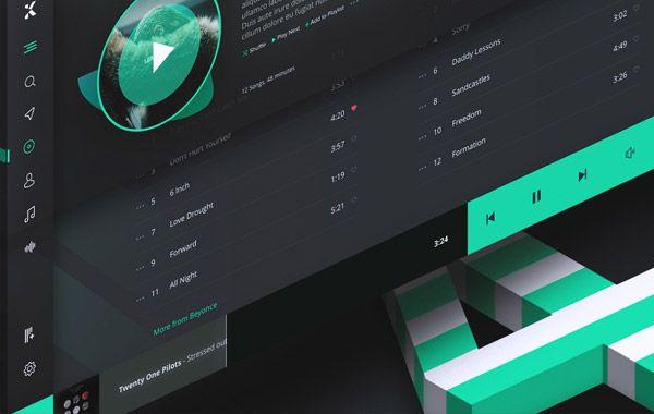 Music Player Desktop App adobe xd resource