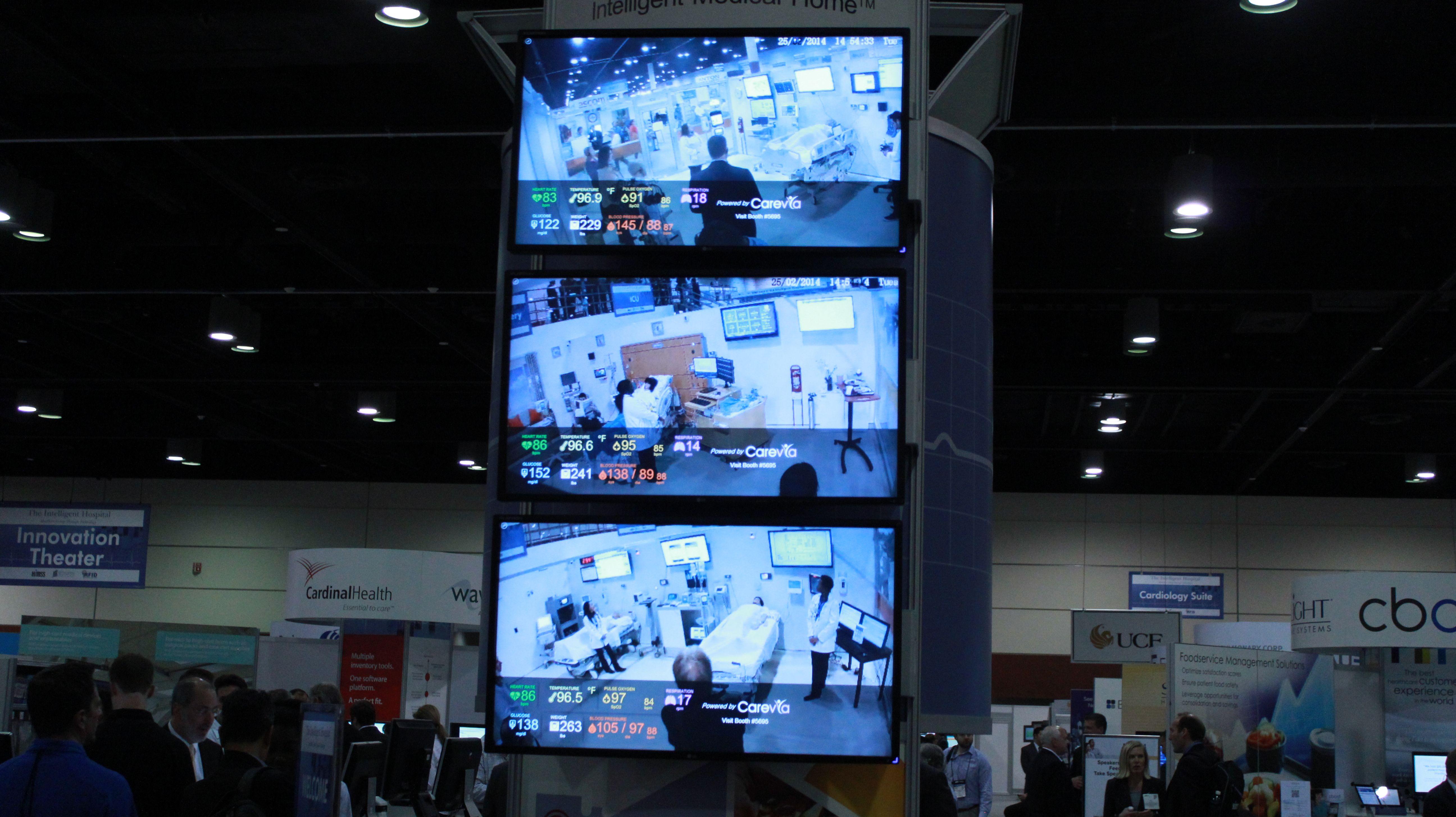 Monitors in the intelligent hospital pavilion