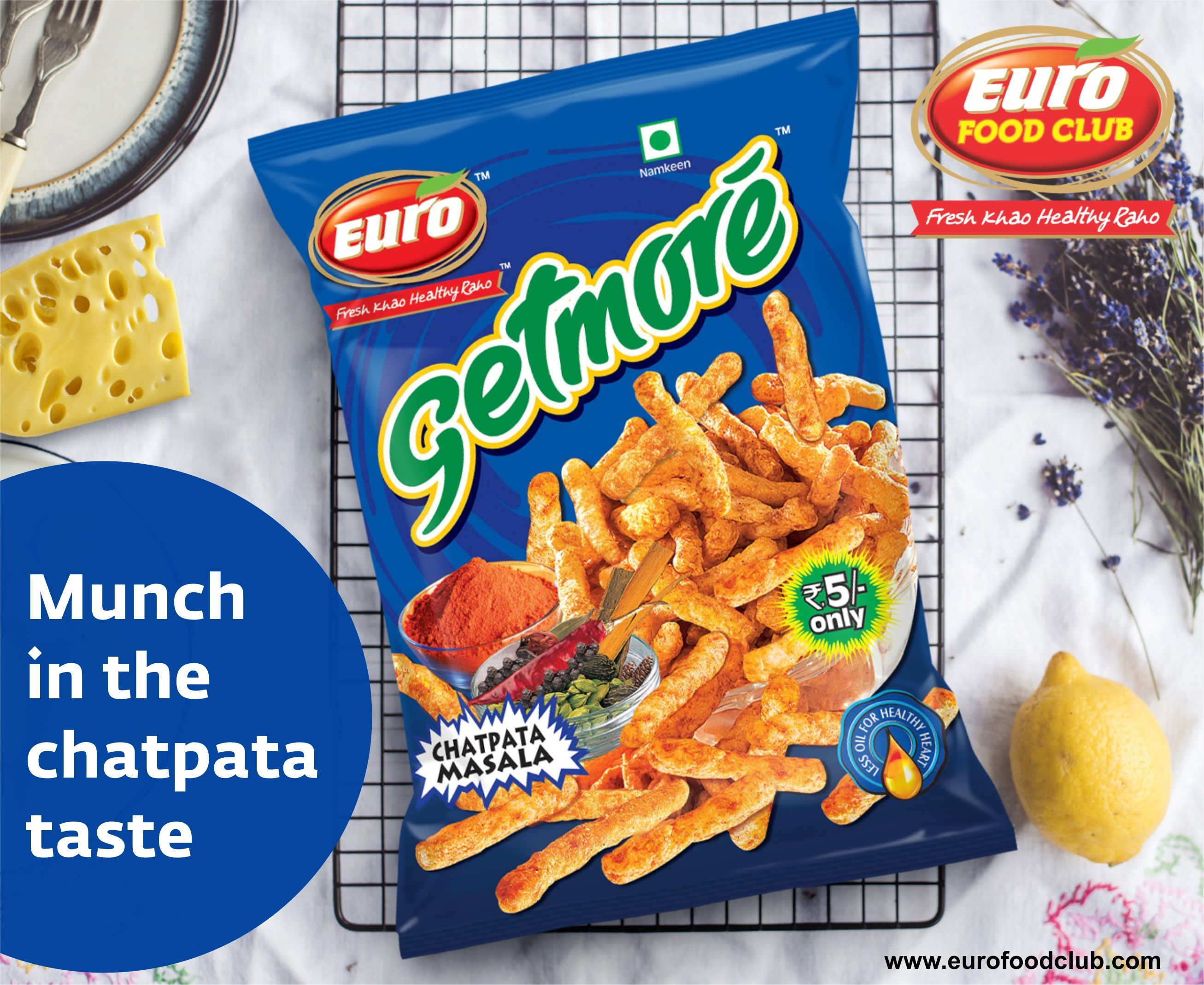 Munch in the chatpata taste of Euro Masala Chips while doing