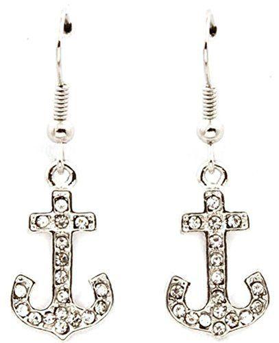 Sparkling Silver Tone Crystal Nautical Anchor Dangle Earrings Fashion Jewelry for Women and Teens, http://www.amazon.com/dp/B00DHOLBYU/ref=cm_sw_r_pi_awdm_otCfvb0KMZV7X