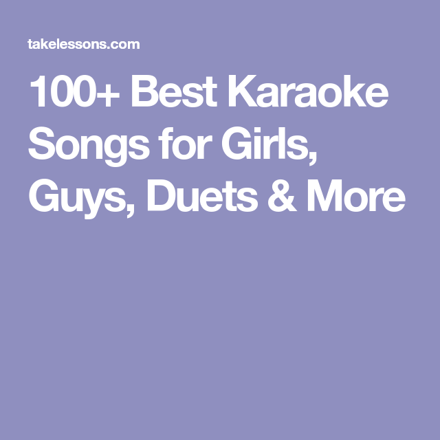 Karaoke songs for girls