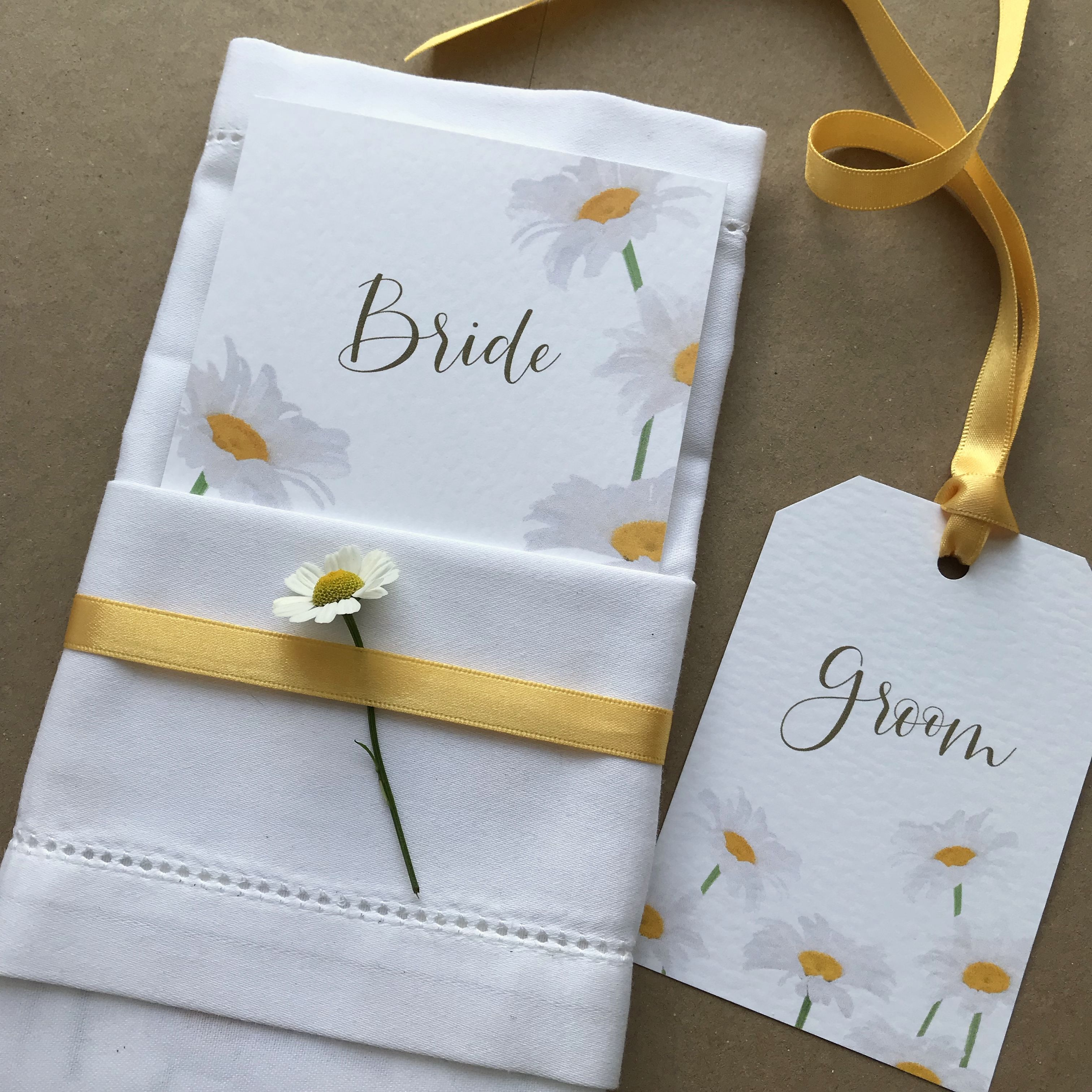 wedding place cards personalised with guest name  menu