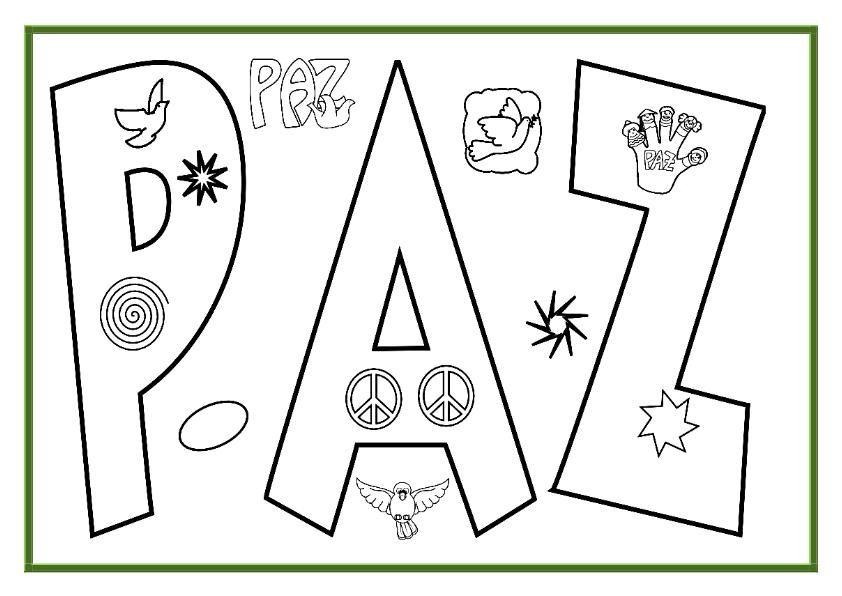 Día De La Paz Galería De Dibujos Y Carteles Niños Del: Imagenes Dia De La Paz Colorear A4_03