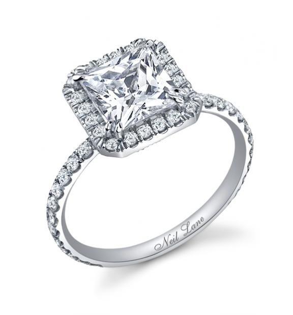 neil lane princess cut diamond and platinum ring