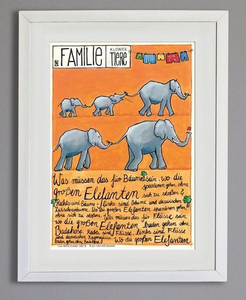 Poster *Elefanten* in A3