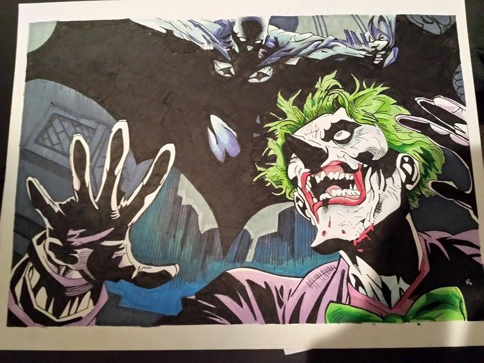 Joker Scribble Drawing : Batman and joker a promarker comic drawing for kickstarter