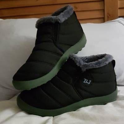 Noir Chaud Doublure En Fourrure Chaussures Plates RZzUTfEDs