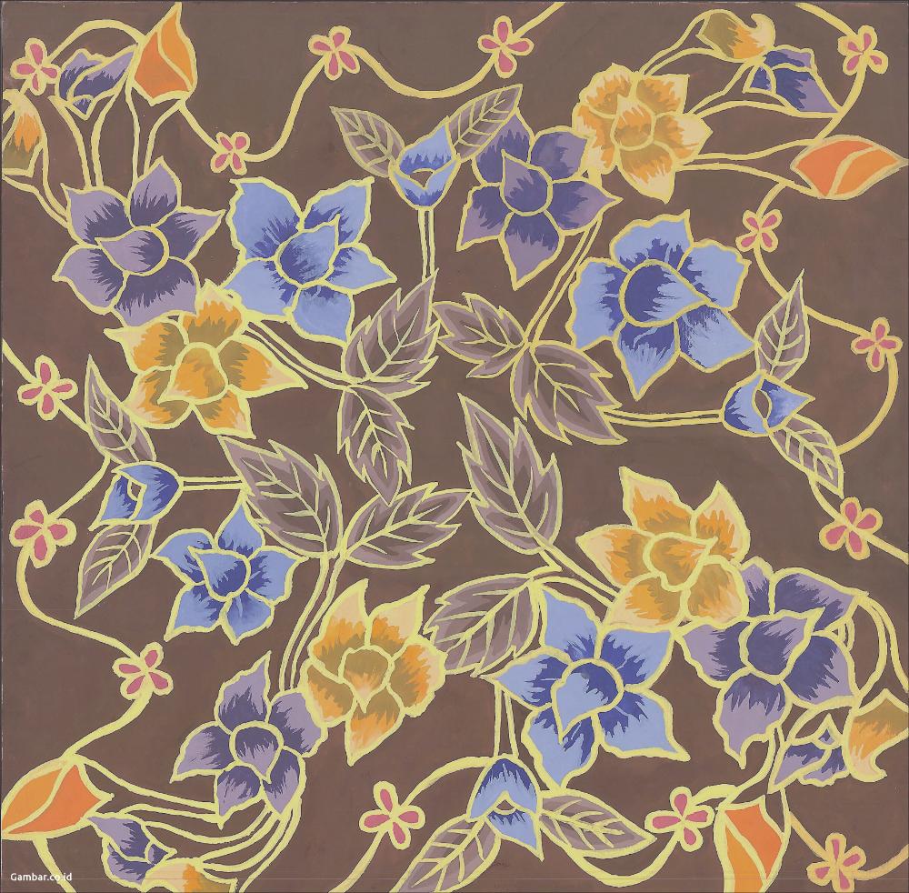 Motif Batik Bunga Yang Mudah Digambar Untuk Anak Sma Graha Batik Batik Art Art Painting