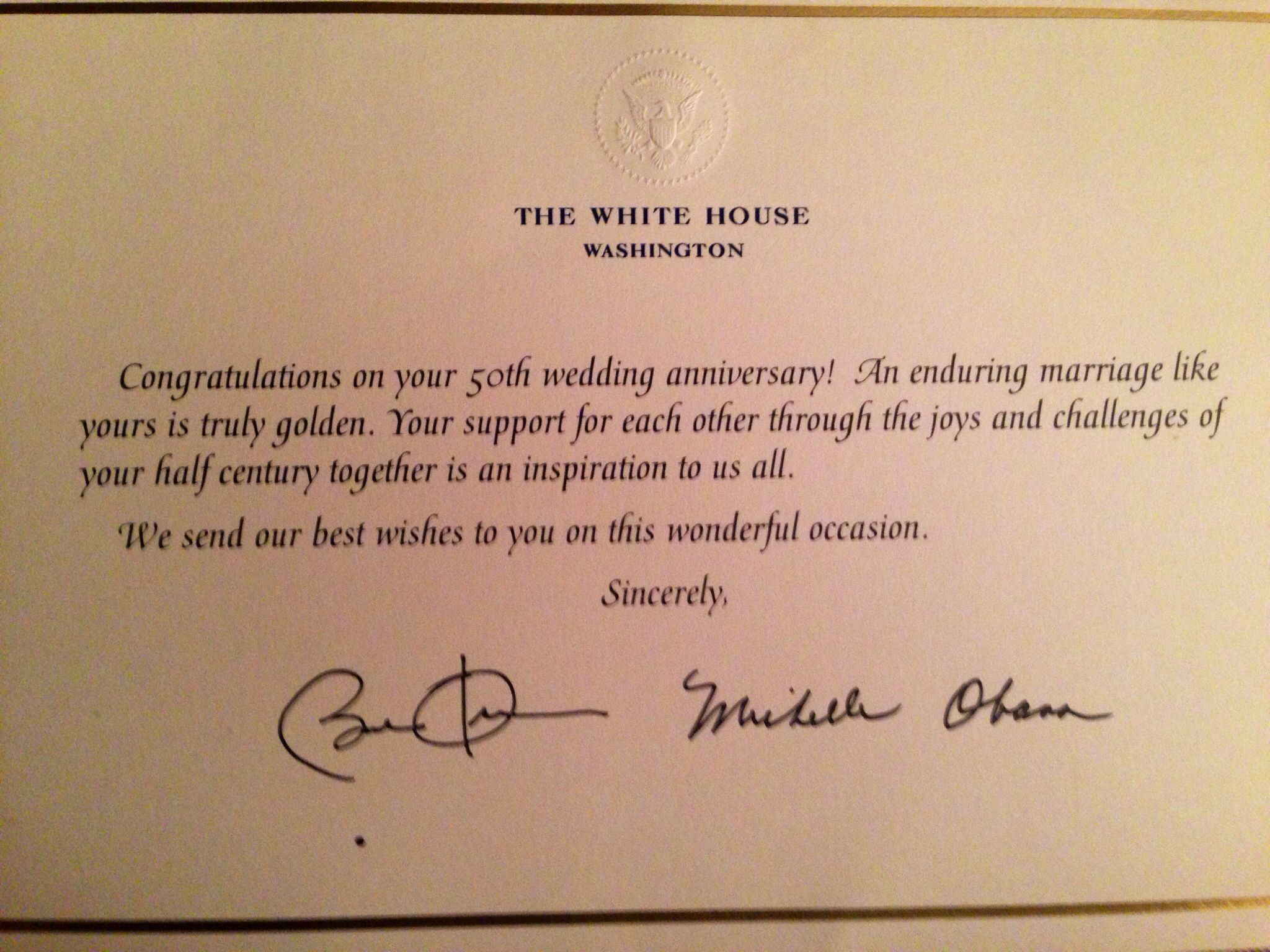 Mail invitations to president and first lady obama your governor