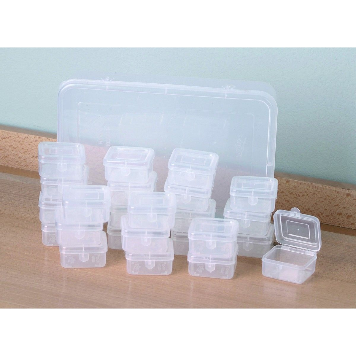 6-pc Plastic Craft Storage Containers Beads Pills Hobby