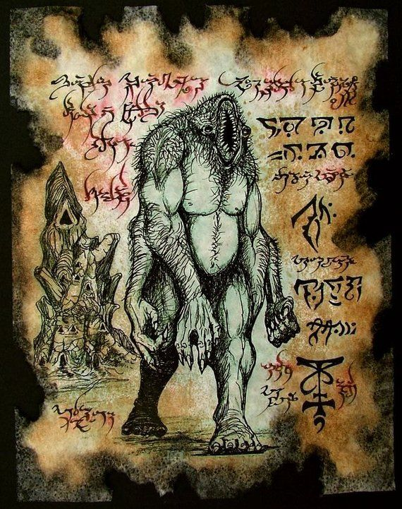 Cthulhu larp astral sorcery necronomicon demon occult dark