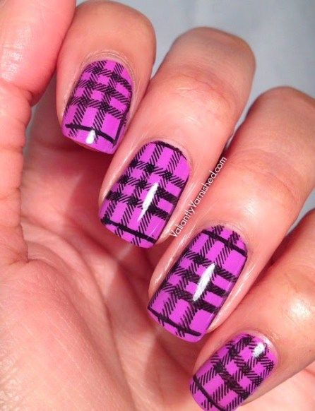 22 Beautiful Plaid Design Nail Art Ideas For Trendy Girls | Pinterest | Plaid  nails, Designs nail art and Girls nail designs - 22 Beautiful Plaid Design Nail Art Ideas For Trendy Girls