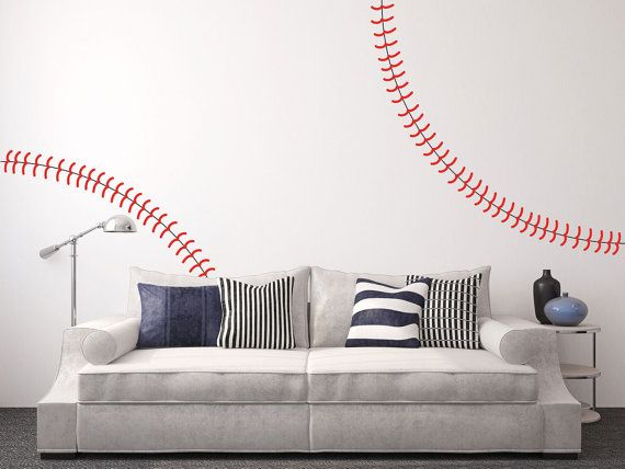Giant Full Wall Baseball Decal By Jennibythesea On Etsy 34 99