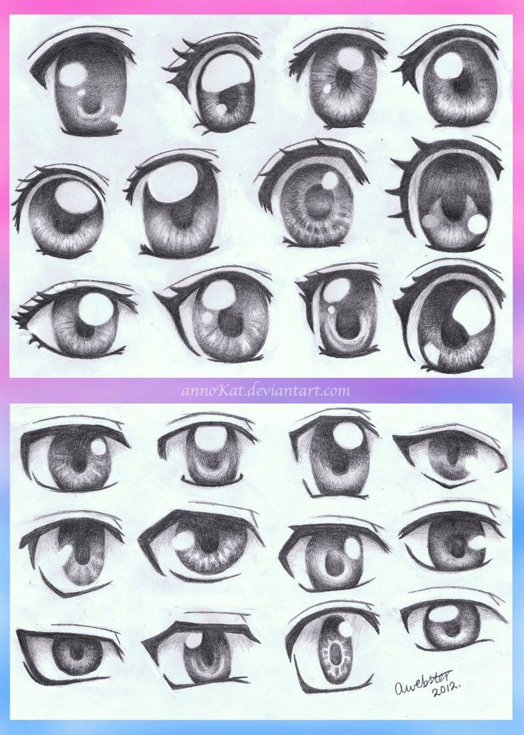 Anime Eye Styles By Annokat On Deviantart Anime Drawings Anime Eyes Manga Eyes