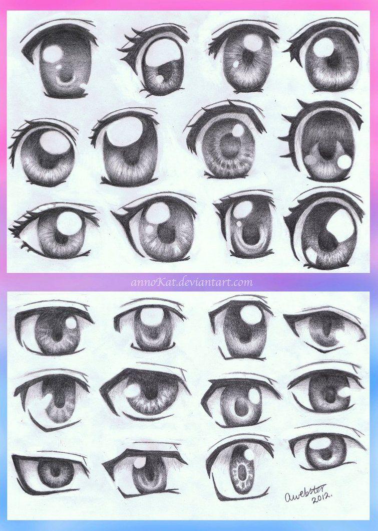 Anime Eye Styles by annoKat on deviantART Anime eyes