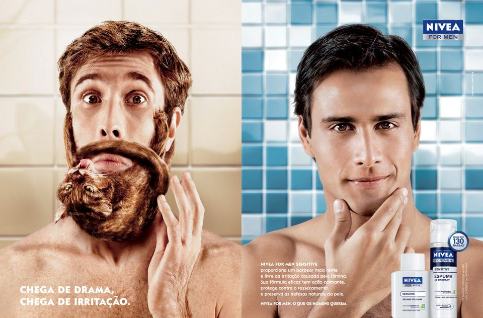 This Nivea advertisement is targeting the stereotype that men can ...