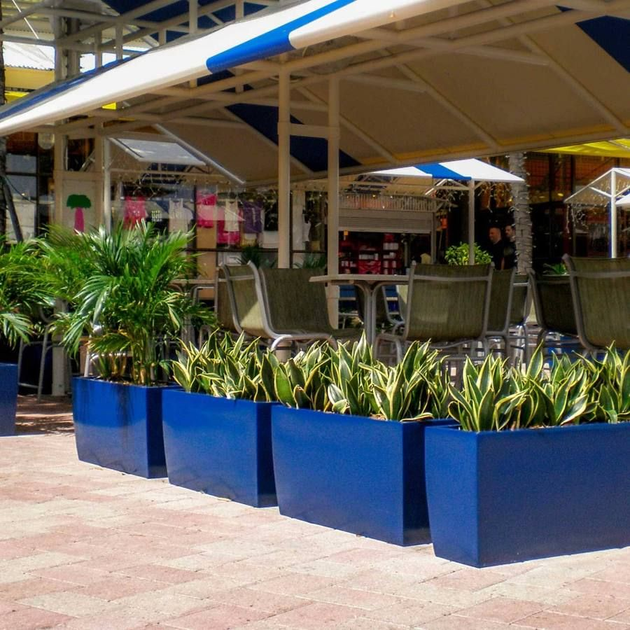 Outdoor Extra Large Blue Planters Fiberglass Planters 400 x 300