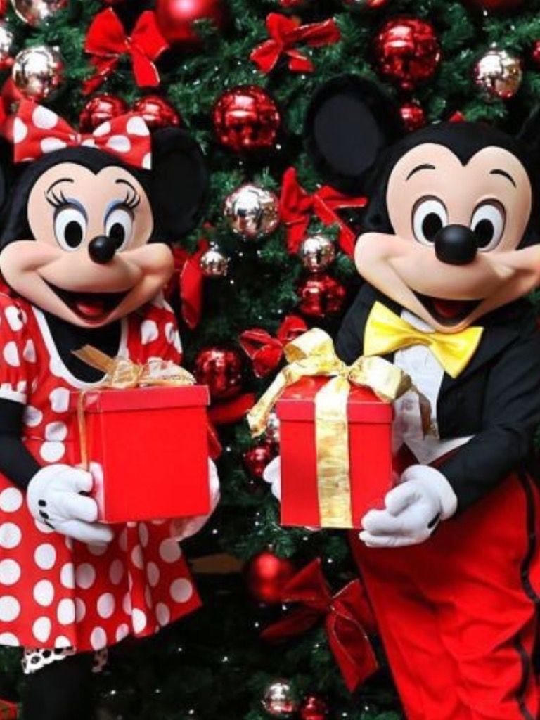 Christmas Minnie Mouse Disneyland.Merry Christmas From Mickey And Minnie Mouse Disney