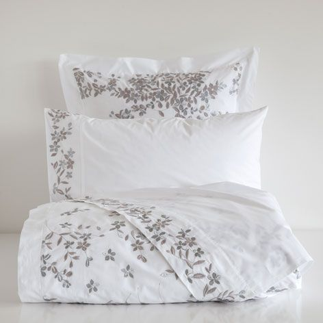 draps et housse percale brod linge de lit lit zara home france bedding set pinterest. Black Bedroom Furniture Sets. Home Design Ideas