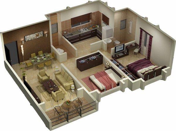 Pin By Rahma On Floor Plans House 3d 3d House Plans Small House Plans Bedroom House Plans