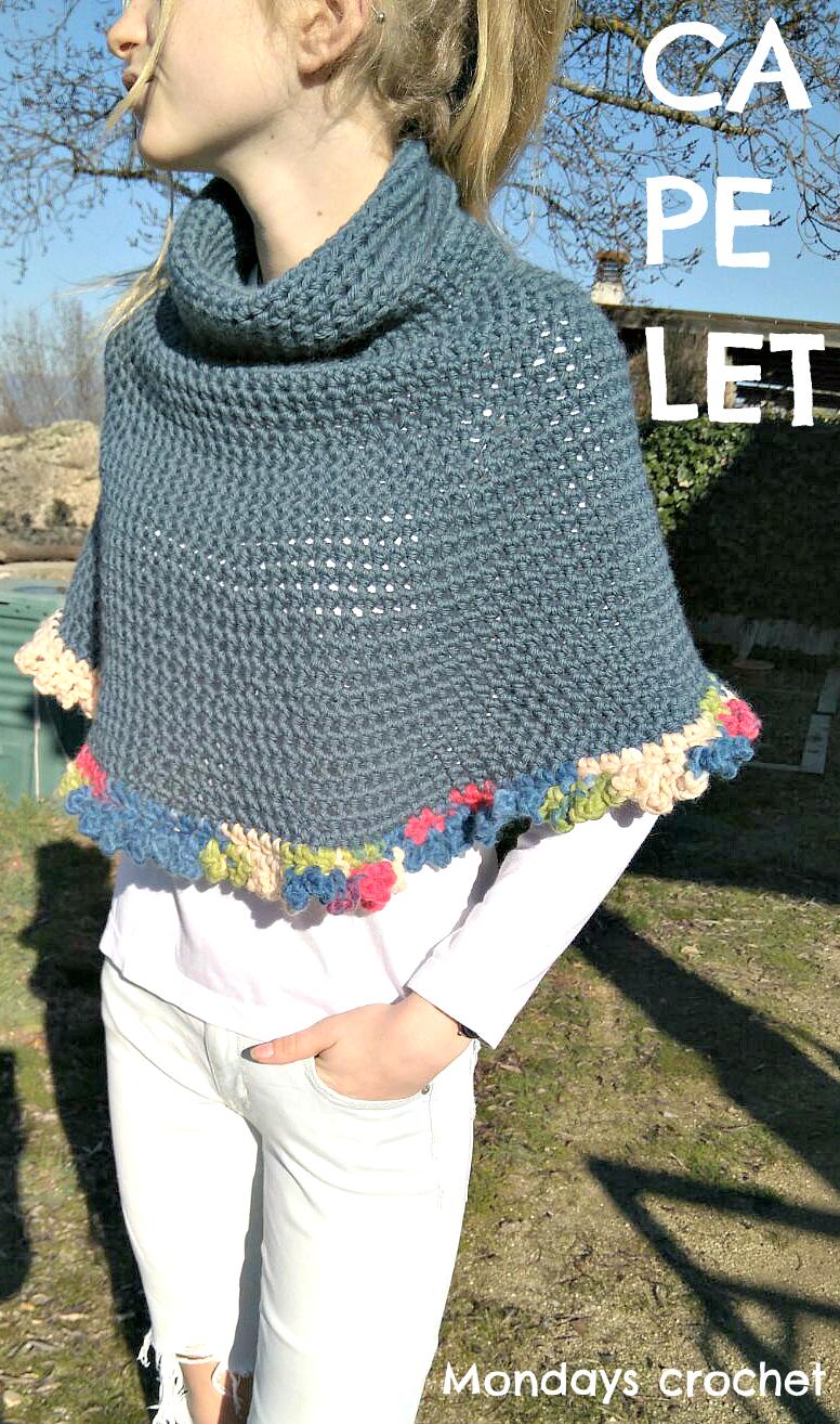 Mini-capa de crochet para principiantes. Patrón gratuito / Crochet ...