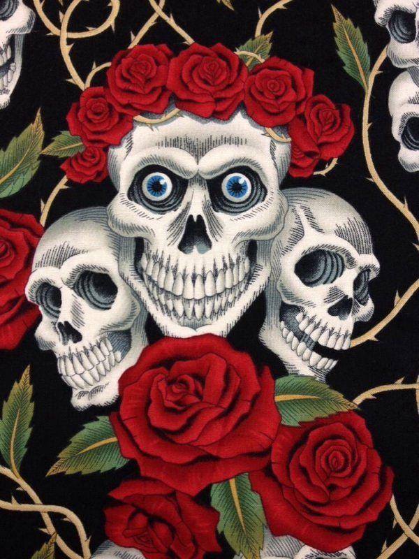 Rose Tattoo Skull Rose Biker Goth Grateful Dead Outsider ...