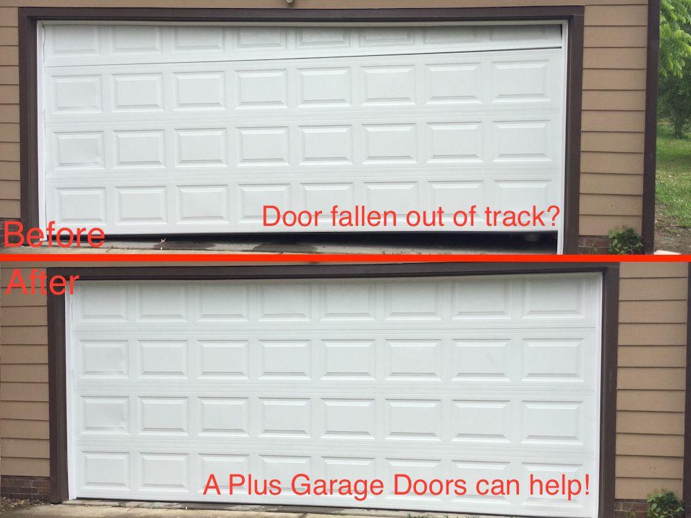 A Plus Garage Doors on a plus signs, a plus tires, a plus carpet cleaning,
