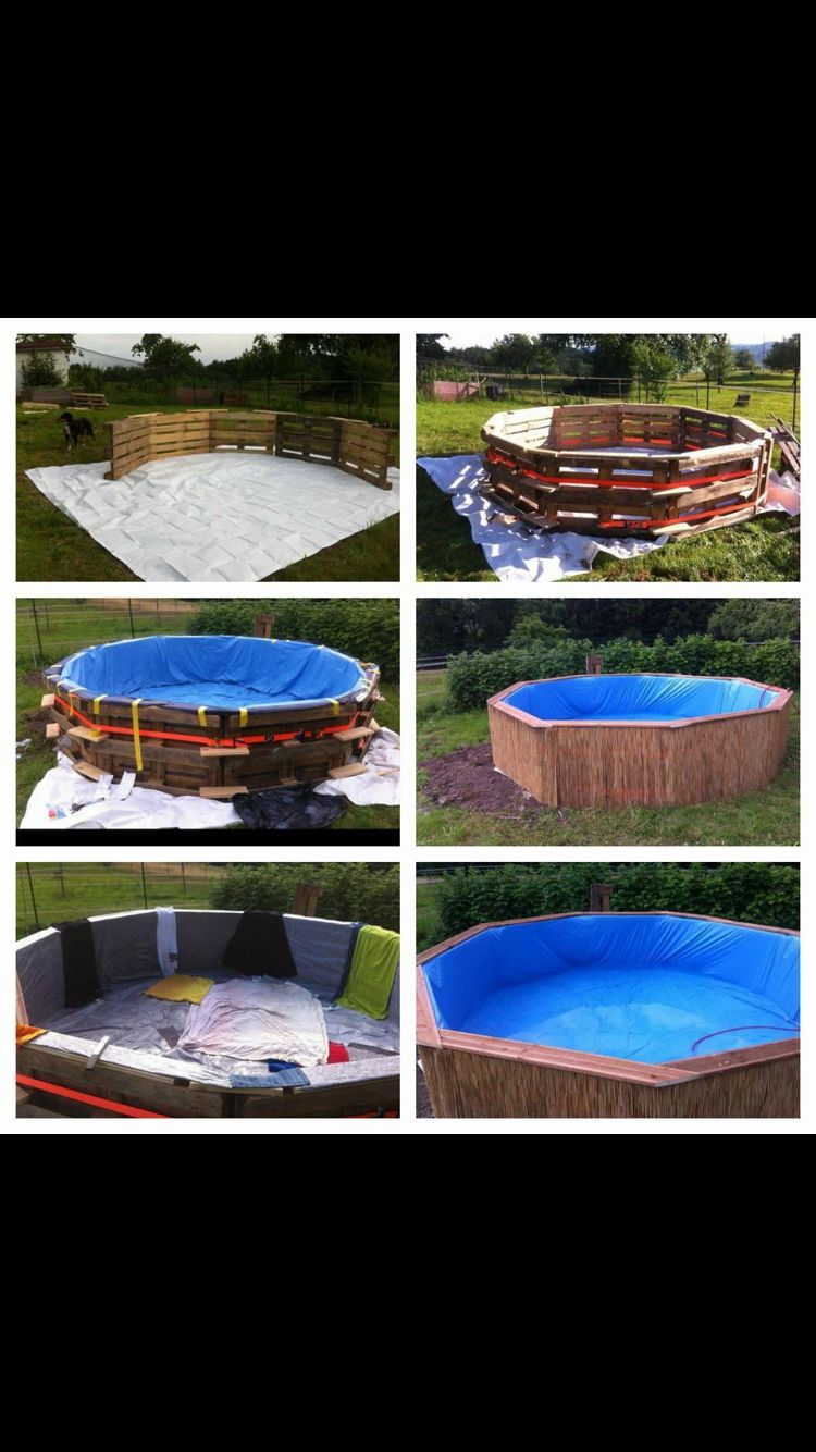 Pool Europaletten Europaletten Pool Out Doors Building A Pool Pallet Pool