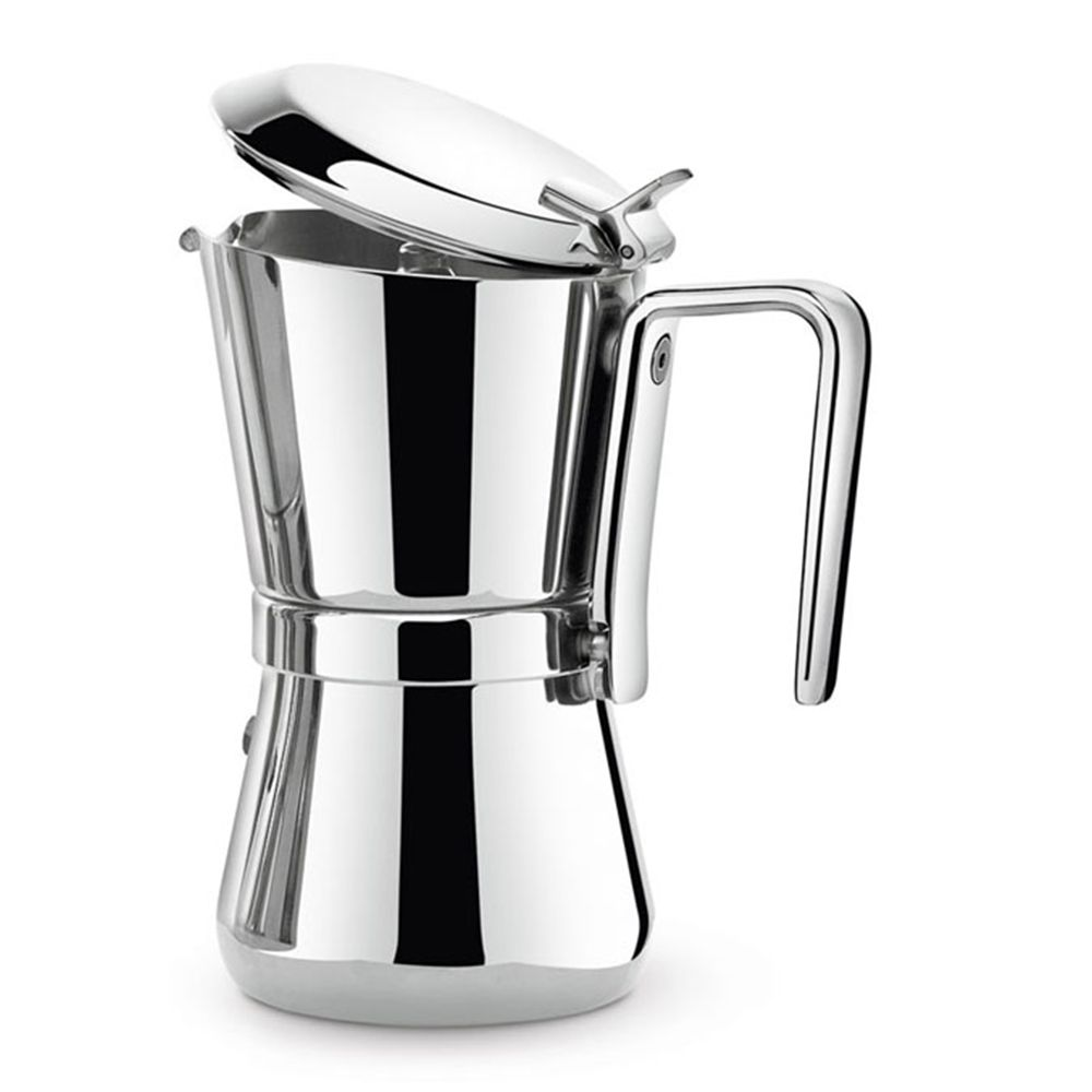 Stainless steel stovetop espresso maker 10 cup - Giannini Giannina 6 Cup Stainless Steel Stovetop Espresso Maker Created In 1968 By Carlo