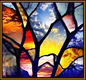 Modern stained glass. Love it!