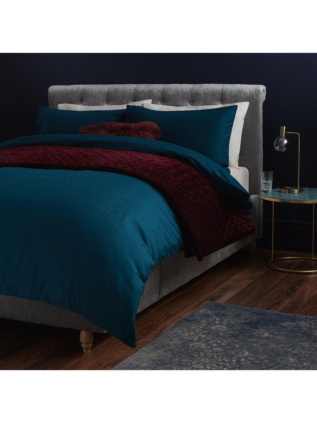 John Lewis & Partners Textured and Decorative Pavone Duvet